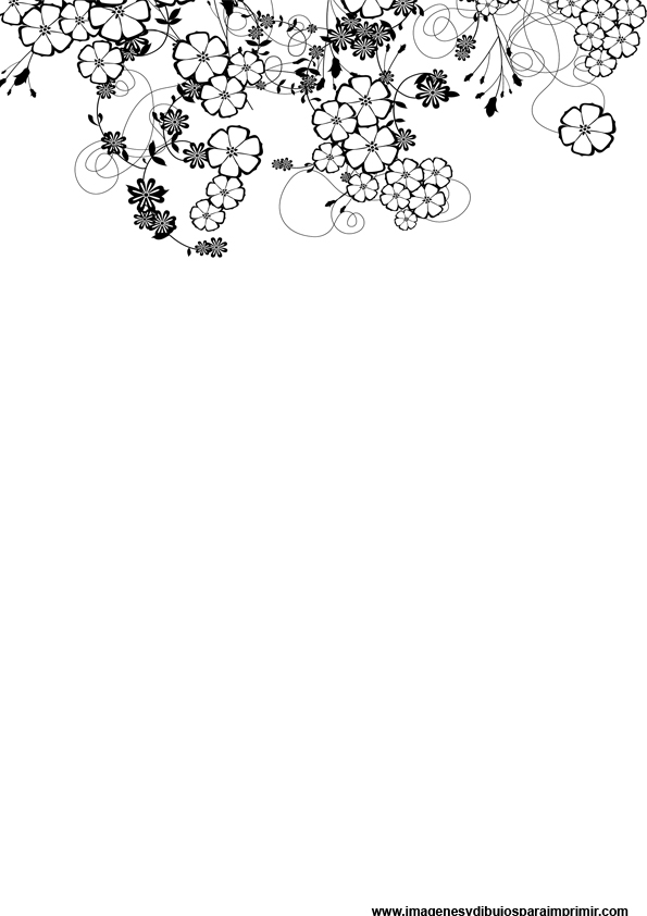 Folios decorados en blanco y negro imagenes y dibujos - Cenefas decorativas para imprimir ...