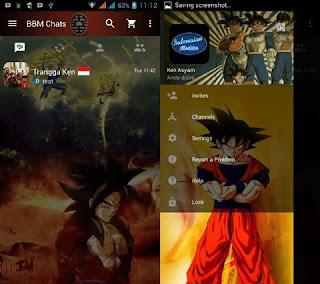 Download Kumpulan BBM MOD Karakter Tokoh Kartun Terlengkap dragonball