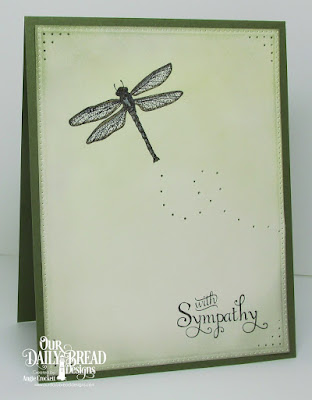 ODBD Loving Memories, ODBD Dragonfly Single, ODBD Custom Pierced Rectangles Dies, Card Designer Angie Crockett