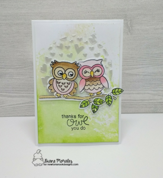 Thanks for owl you do by Diane features What a Hoot and Tumbling Hearts by Newton's Nook Designs; #newtonsnook