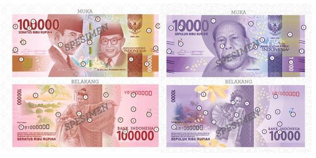 Gambar Uang Baru Negara Indonesia Rp. 100.000