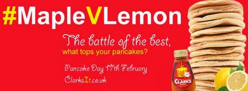 clarks it, pancake day