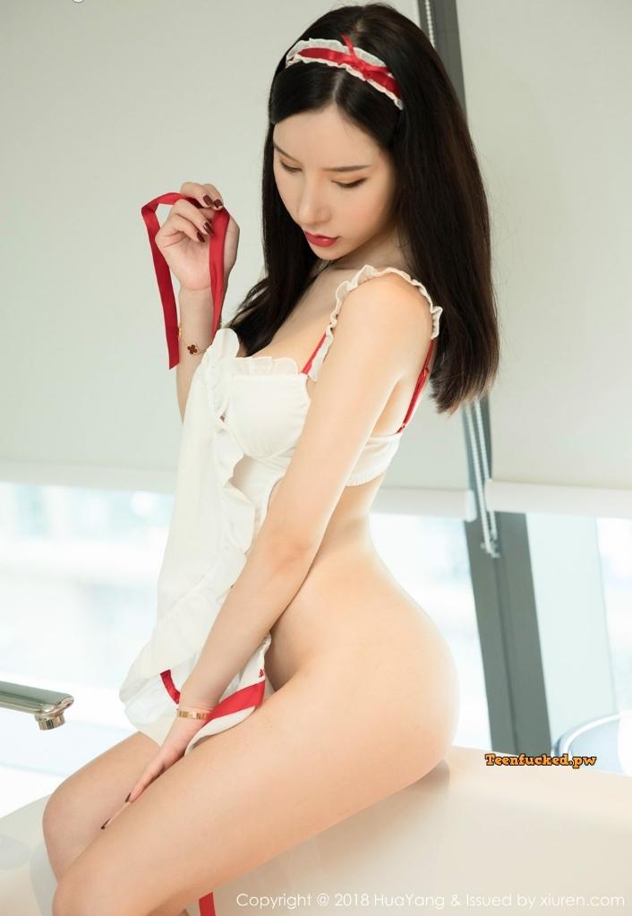 HuaYang 2018 10 12 Vol.089 Zhou Yuxi MrCong.com 024 wm - HuaYang Vol.089: Người mẫu Zhou Yuxi (周于希) (43 ảnh)