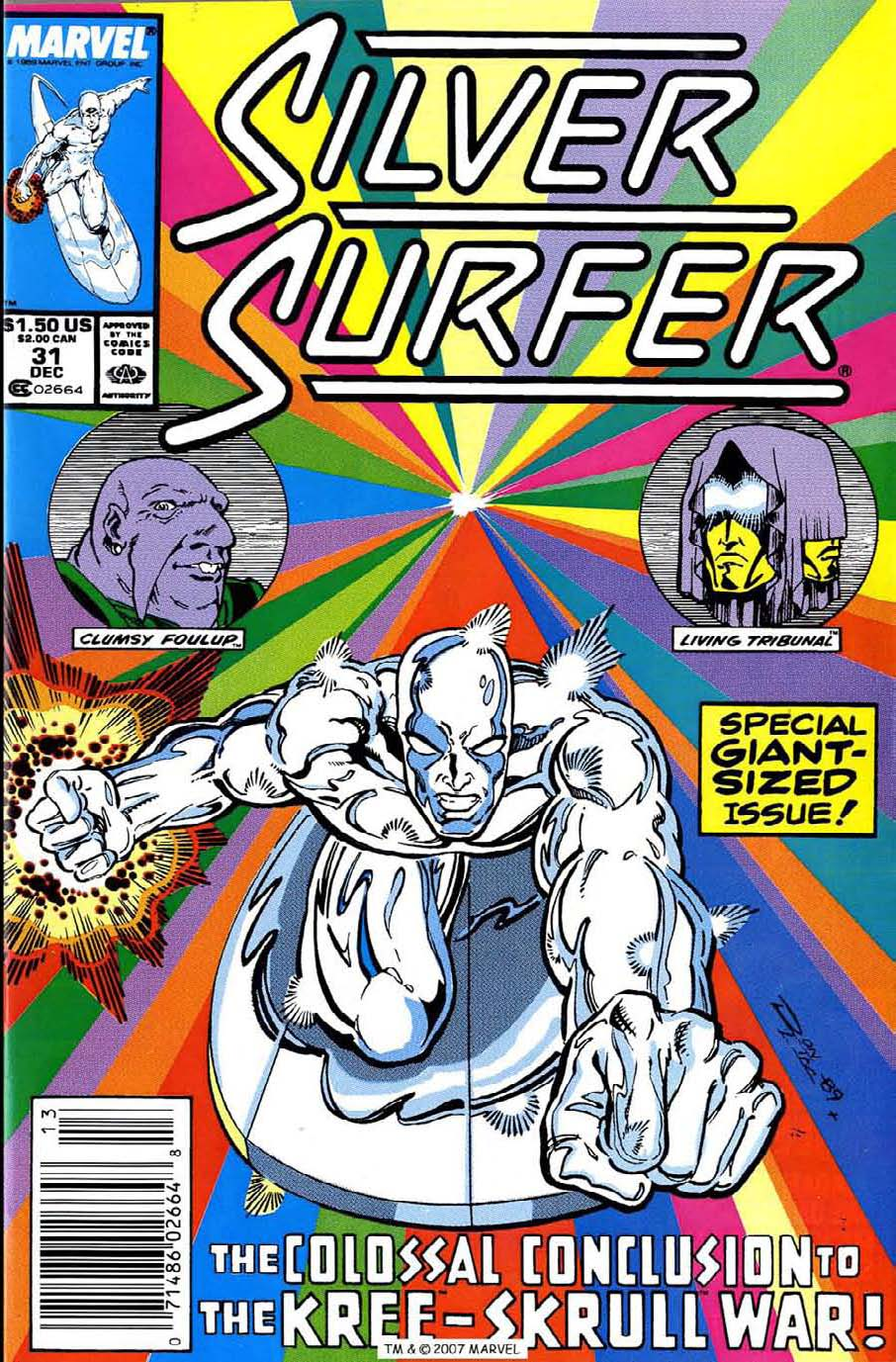 Read online Silver Surfer (1987) comic -  Issue #31 - 1