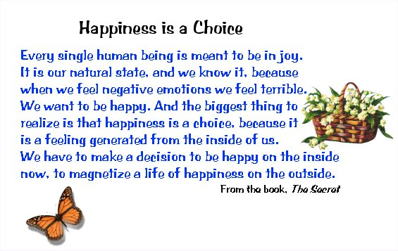 Happiness Is A Choice Quotes. QuotesGram