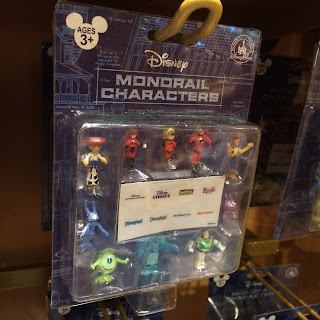 the world of disney store monorail characters