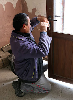 Bekir fixes the back door