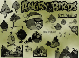 Set de pinceles de Angry Birds para Photoshop