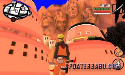 Screenshoot Game GTA San Andreas Mod Pack Naruto Apk + Data For Android Terbaru by By Lutfi