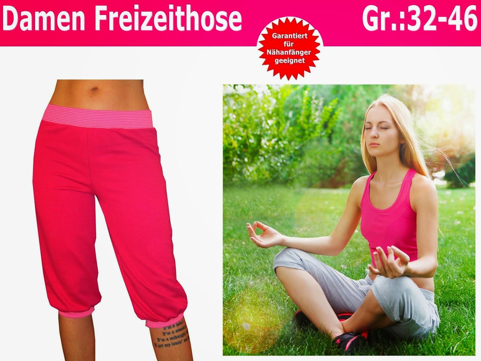 Trash Monstarz® Nähshop : Schnittmuster Pumphose für Damen nähen