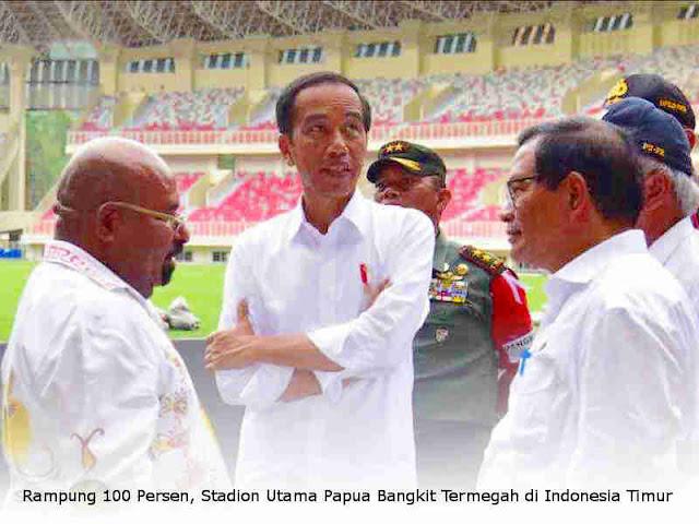 Rampung 100 Persen, Stadion Utama Papua Bangkit Termegah di Indonesia Timur