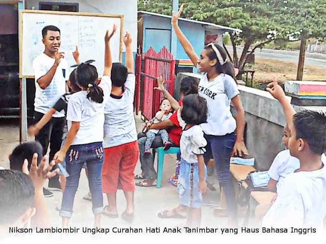 Nikson Lambiombir Ungkap Curahan Hati Anak Tanimbar yang Haus Bahasa Inggris