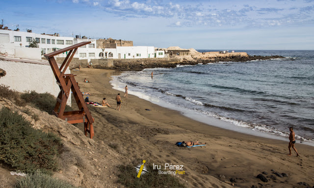 Playa del faro de Arinaga, en Gran Canaria