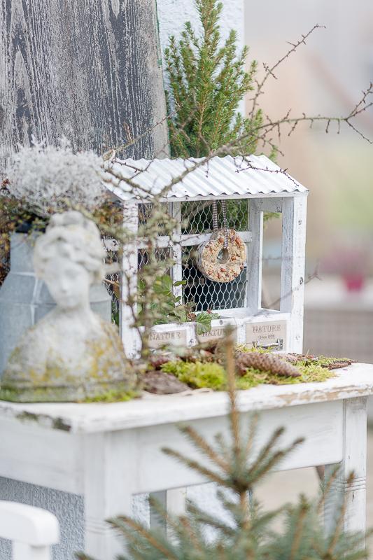 Wintervibes,Vogelfütterung mal anders, Pomponetti, Vogelhaus