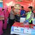 Polres Bangkalan dan Bhayangkari Bagikan Bingkisan ke Anggota Pos Ops Ketupat