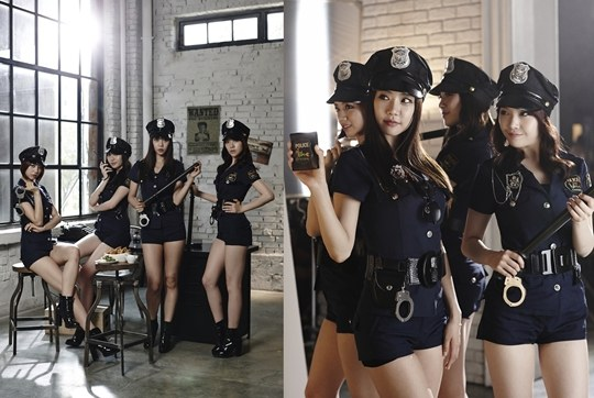 Cute Bts Wallpapers Girl S Day Transform Into Sexy Cops For Bhc Chicken