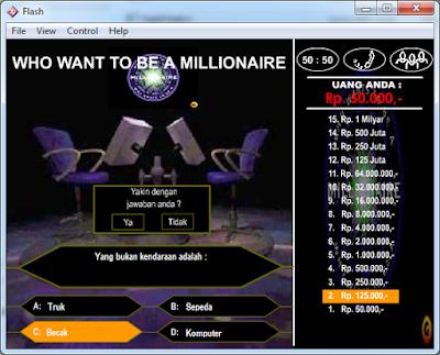 Games Kuis Millionaire