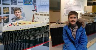 15χρονο αγόρι με αυτισμό έφτιαξε τον Τιτανικό με τουβλάκια Lego