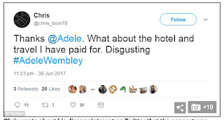 'Sick to death of her drama': Fans' fury at Adele's 'zero work ethic' after star cancels shows because of damaged vocal cords – leaving some of them hundreds of pounds out of pocket
