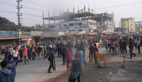 Labor unrest in Ashulia