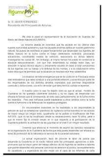Carta al Presidente del Principado