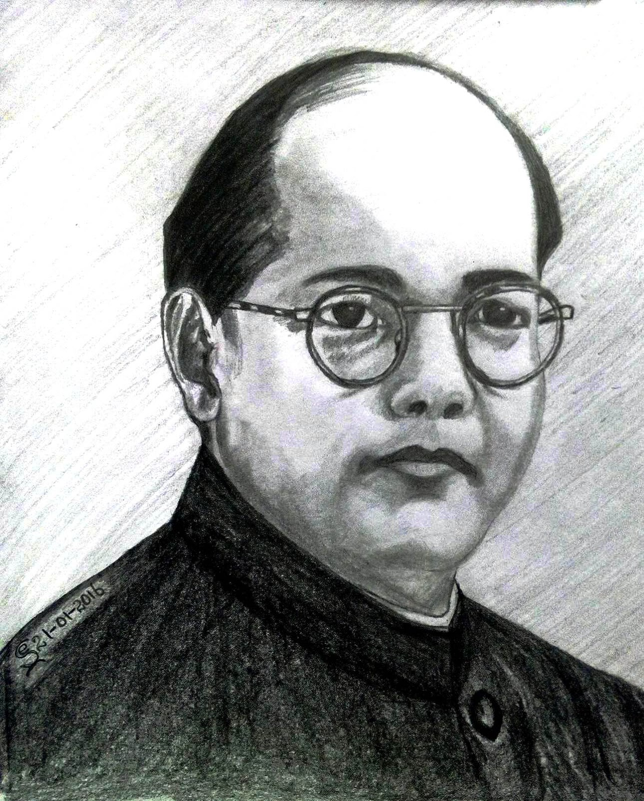 Picture of picture of netaji for drawing