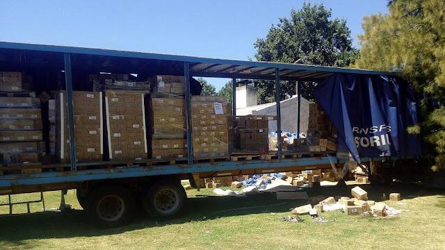 Recuperan un cargamento de productos de cosmética valuado en $4.000.000 que había sido robado por piratas del asfalto