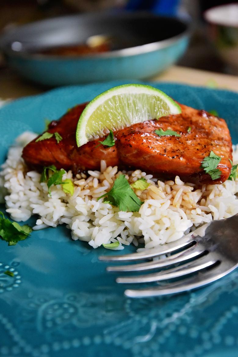 Honey Soy Salmon #Recipe
