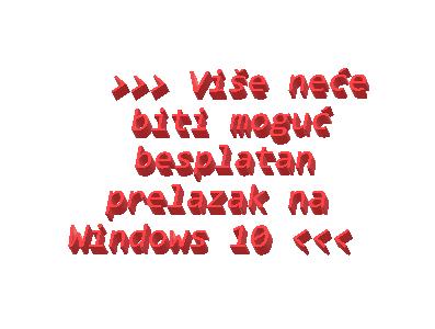 Više neće biti moguć besplatan prelazak na Windows 10