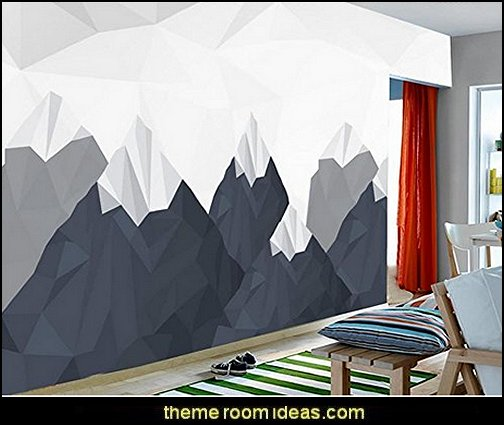 Snowy Abstract Geometry Painting Room Wallpaper For Walls 3D Wall Murals