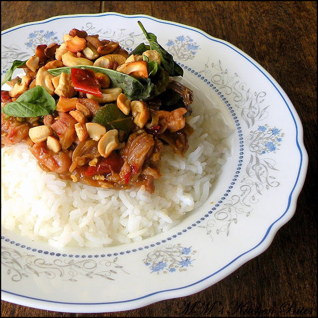 Cashew Chicken with Basil mmskitchenbites