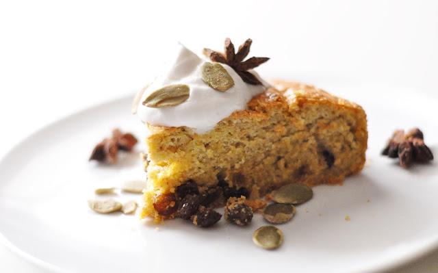 Pumpkin pie with cranberries (ciasto dyniowe z żurawiną) | dietetyczne