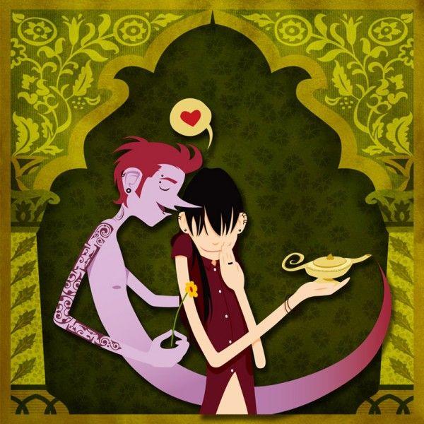 Ilustración  de amor.