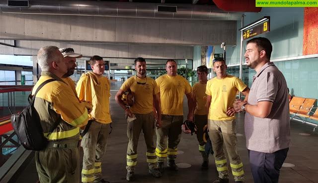 El Cabildo de La Palma aporta recursos y personal a la lucha contra el fuego en Gran Canaria
