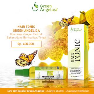 penumbuh rambut botak, obat rambut botak green angelica, hair tonic green angelica