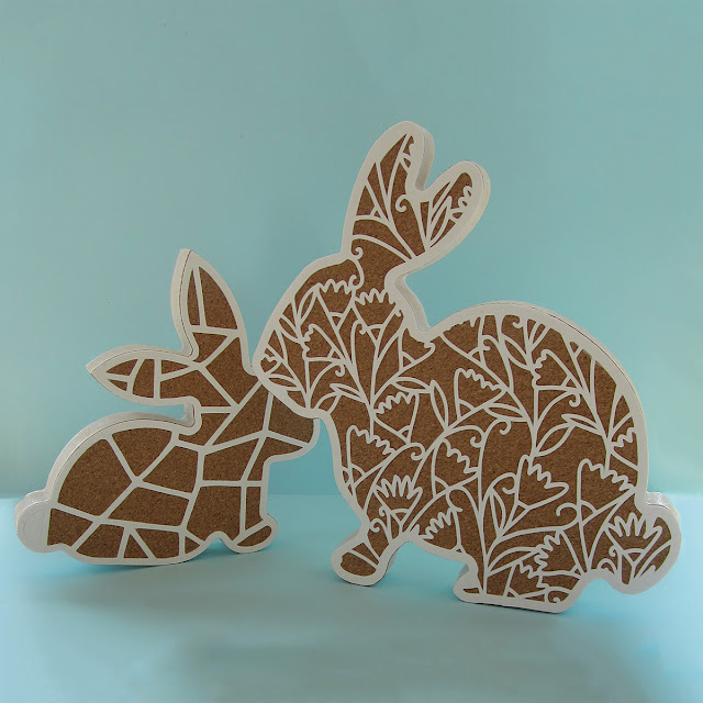 Using Silhouette Cork Sheets - Cover an MDF Shape - Weld a pattern to a shape - by Janet Packer for Silhouette UK Blog