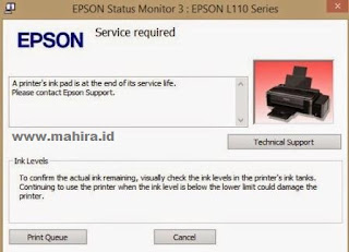 You cannot print and there is an error popup saying  Download Epson L11+0, L210, L30+0, L350, L355 Resetter Tool