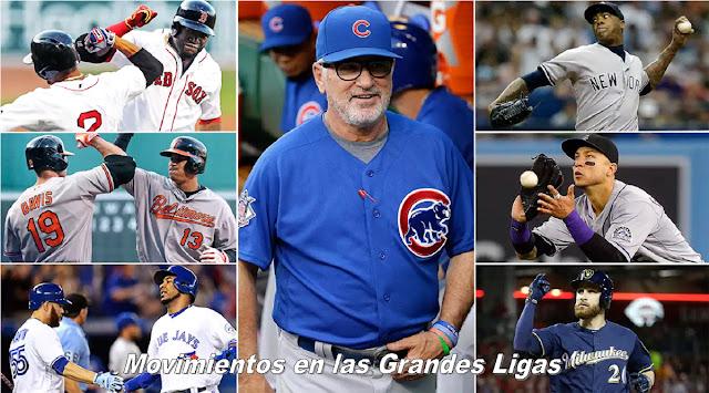Movimientos en las Grandes Ligas