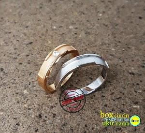 cincin emas kuning dan perak P76H