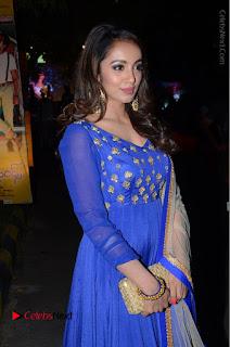 Telugu Actress Tejaswi Madivada Pos in Blue Long Dress at Nanna Nenu Na Boyfriends Audio Launch  0056.JPG