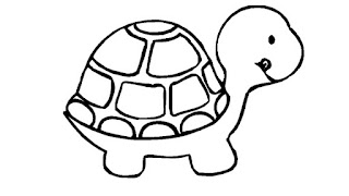 Printable Smile Baby Turtle Coloring Pages