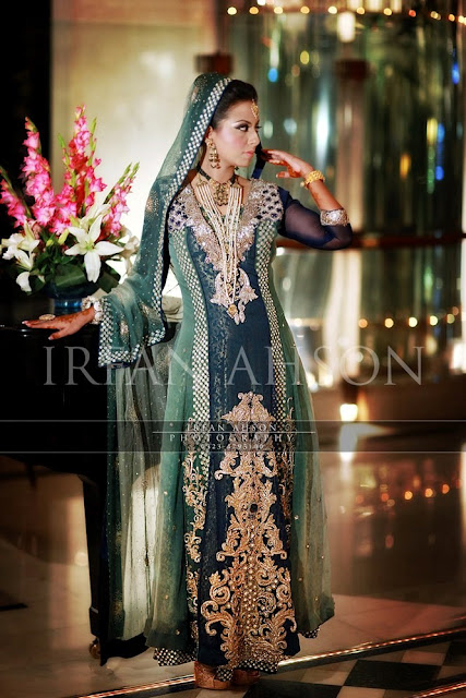 10 most beautiful green color bridal dresses 2016