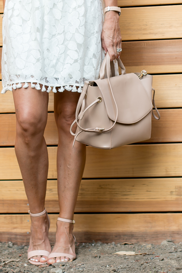 blush heels blush satchel