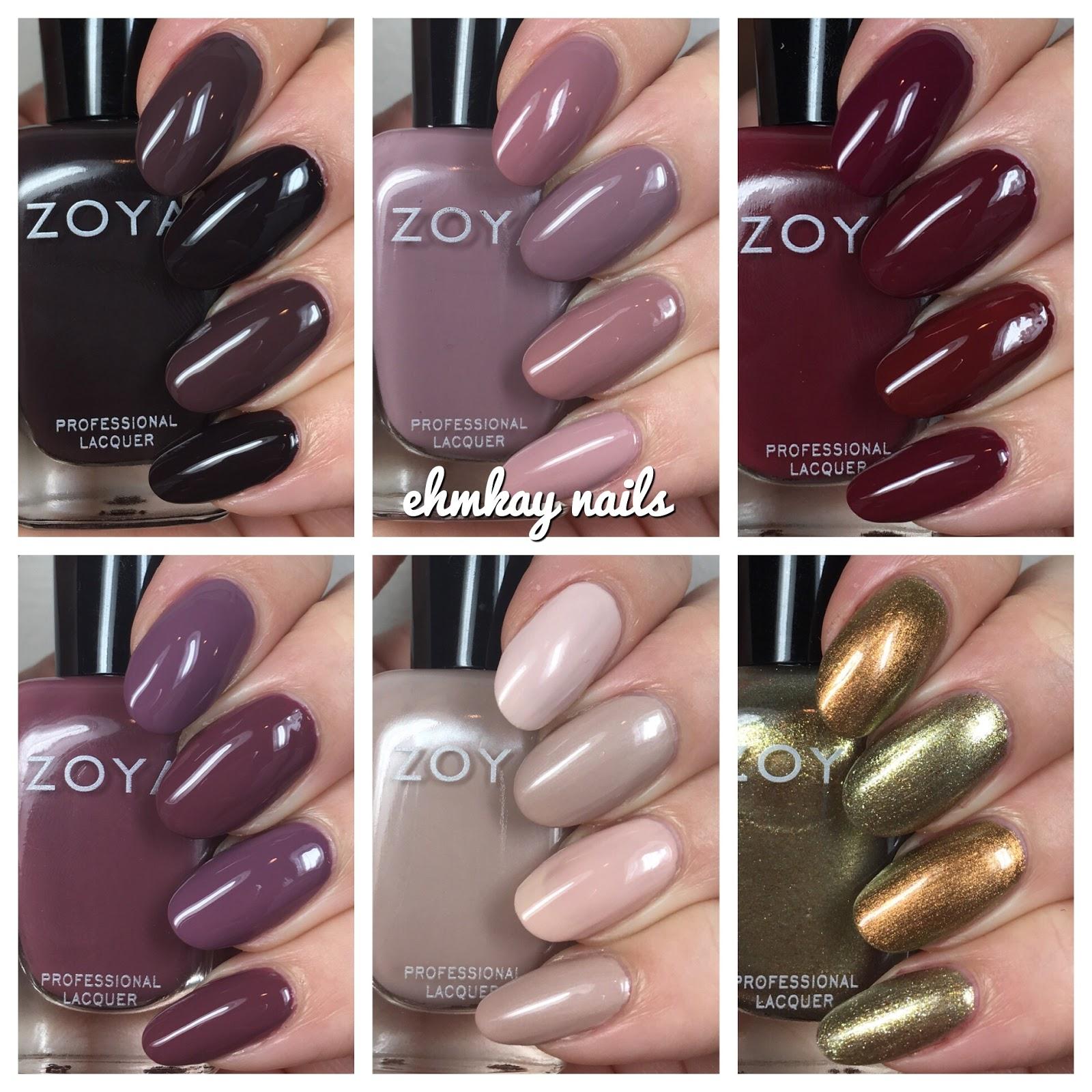 ehmkay nails: Zoya Sophisticates Comparisons