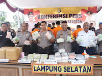 Penyelundupan 21 Kg Sabu, 40 Ribu Pil Extacy dan 22 Kg Ganja Digagalkan Polisi