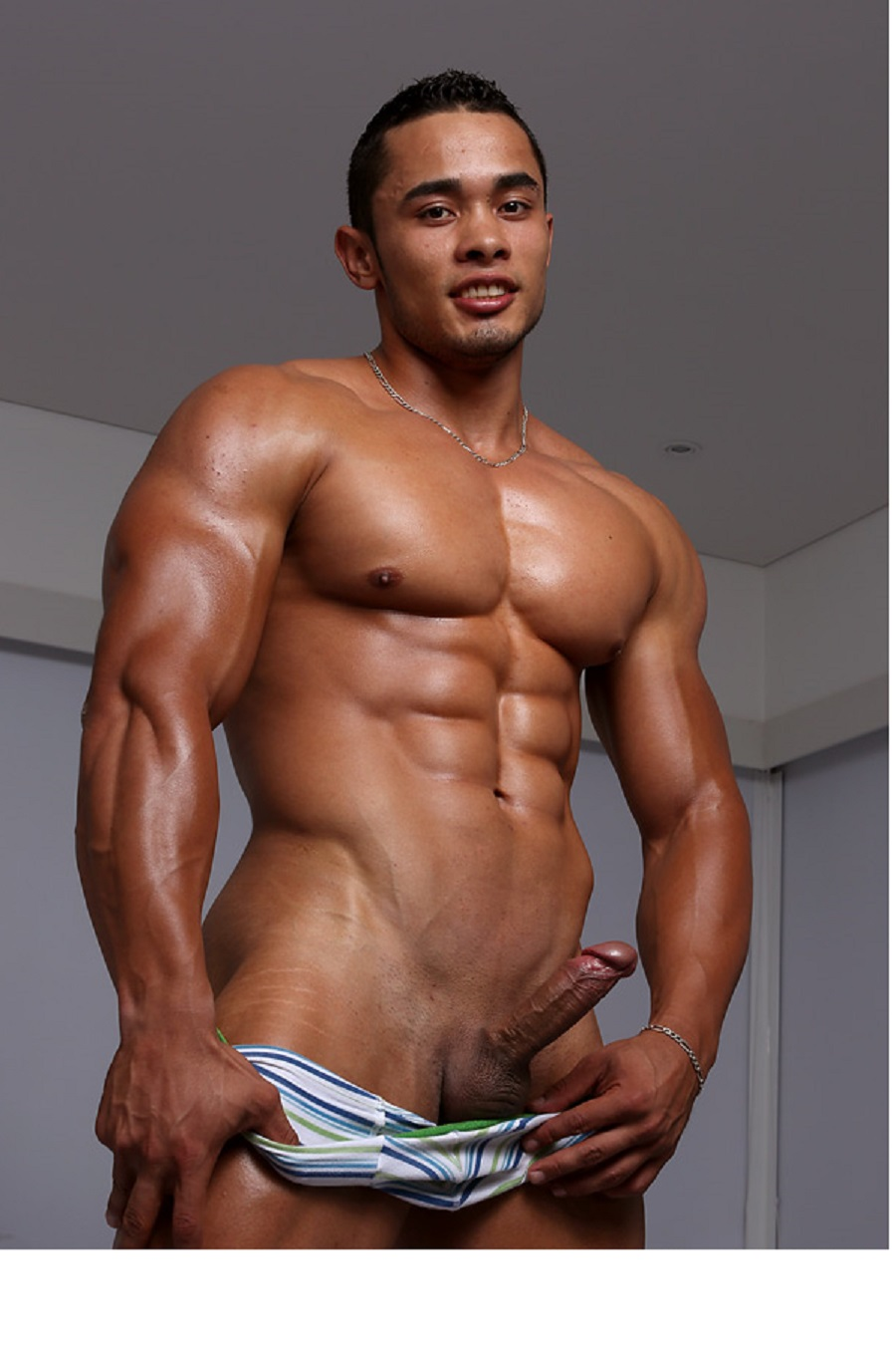 Naked Muscular Men With Erections-8948