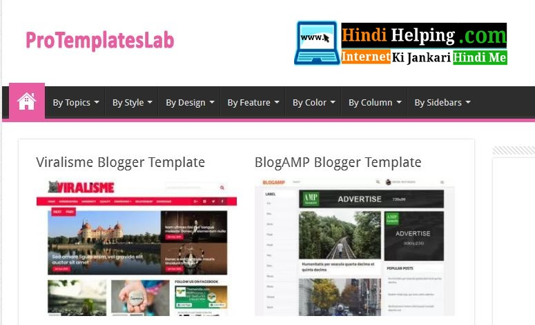 Top 5 sites for free SEO friendly Blogger Templates - Hindi Helping ...