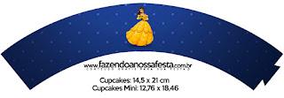 Wrappers para Cupcake de Fiesta de La Bella y la Bestia.