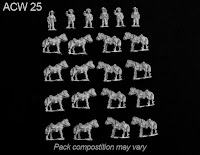 ACW 25 Confederate Horse Holders and Mounts