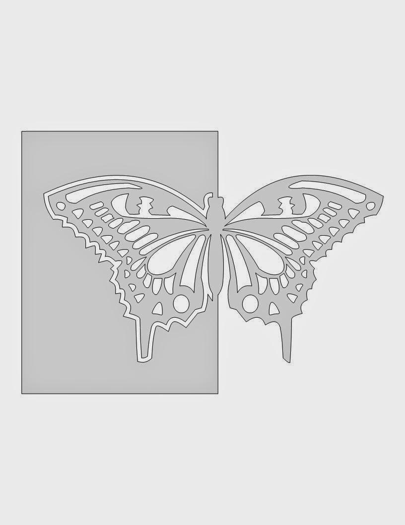 Схема открытка бабочка из бумаги, одежды обуви для